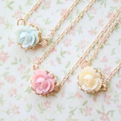 Mini Rose Gold Filled Necklace by NestPrettyThingsKids on Etsy, $28.00 I could So make these!!