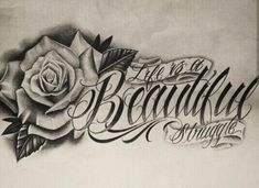 Chicano Lettering Source by Dope Tattoos, Pretty Tattoos, Beautiful Tattoos, Body Art Tattoos, New Tattoos, Tattoos For Guys, Sleeve Tattoos, Tattoos For Women, Tatoos