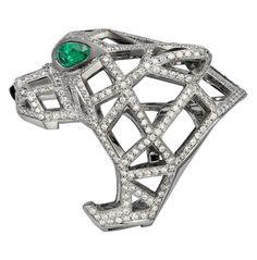 Diamond-Studded Panthère De Cartier Ring