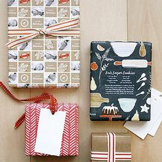 Wrap your best batch of homemade goodies in Minted Personalized Wrapping Paper - it prints your recipe right on the paper!