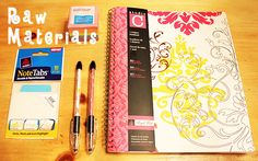 Materials needed for Post-It Note Planner