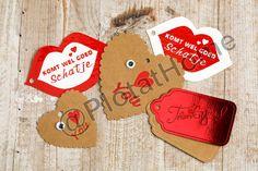 Papier | (Valentijn) labels Labels, Sugar, Cookies, Winter, Desserts, Food, Paper, Biscuits, Winter Time