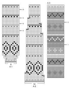 """Sweet As Candy Set - Das Set umfasst: Gestrickte DROPS Baskenmütze, Kragenschal und Pulswärmer in """"Karisma"""" mit bunten Musterborten. - Free pattern by DROPS Design"""