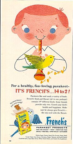French's parakeet products ad 1959 (Image1)