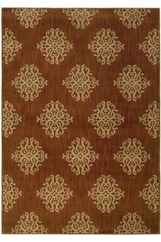Grande Area Rug: features an artistic scrollwork motif & will up to years of heavy foot traffic. #HDCrugs HomeDecorators.com