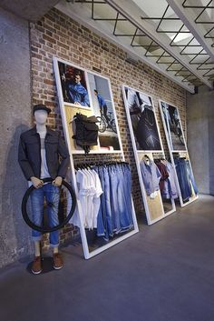 Simply constructed- well organized retail hanging space(s)