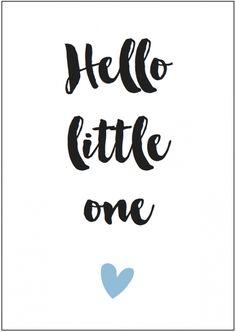 Kaart boy | Hello little one  Formaat: A6 (105 mm x 148 mm) Papier: HVO Offset 340 grams - € 1,25