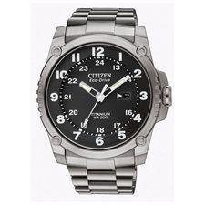 Men's Citizen Eco-Drive Super Titanium Diver's Watch BJ8070-51E