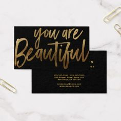#makeupartist #businesscards - #You are Beautiful Hair & Makeup Artist Business Card