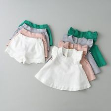 Kids Baby Girls Summer Outfit Sleeveless Blouse+Shorts Fashion Clothes Sets - Summer Outfits for Work Girls Summer Outfits, Little Girl Dresses, Kids Outfits, Girls Dresses, Baby Summer Clothes, Casual Outfits, Baby Girl Fashion, Fashion Kids, Fashion Outfits