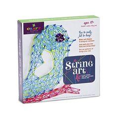 Craft-tastic String Art Kit III - Craft Kit Makes 3 Large String Art Canvases