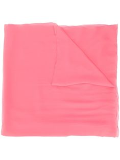 Rose pink silk transparent scarf from Alberta Ferretti featuring pointed edges. Boutiques, 168, Pink Scarves, Alberta Ferretti, Pink Silk, Pink Roses, Women Wear, Feminine, Stuff To Buy