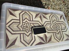 Victorian Ceramic Floor Tiles Old Architectural Antique x8 Star Design 1800's #Victorian