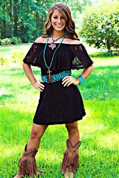 1000 Images About Cowgirl Boots And Dresses On Pinterest