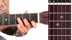 Guitar open chords with song example for beginners - Mamamusicians