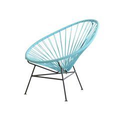 OK Design Aps OK Design - The Acapulco Mini Chair, hellblau Hellblau T:25 H:62 B:70