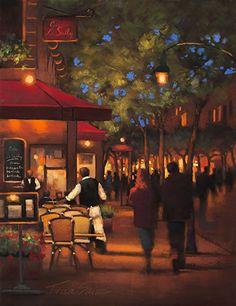 Evening Stroll by Teresa Saia Pastel ~ 24 x 18