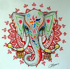 Henna Elephant by ~harperugby on deviantART