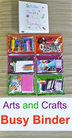 Lexie Loo, Lily, Liam & Dylan Too: How To Create an Arts and Crafts Busy Binder Arts And Crafts For Teens, Art And Craft Videos, Arts And Crafts House, Arts And Crafts Projects, Crafts For Kids, Kids Travel Activities, Road Trip Activities, Toddler Activities, Babysitting Activities