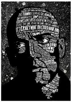 R.E.M. Michael Stipe lyrics — Peter Strain Illustration