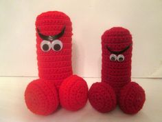 BIG RED PENIS, angry penis, red hot dick, crochet red cock, big cock, adult novelty, gay pride, engorged dick, bacheloretette, penis by badjamminmammie on Etsy