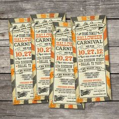 This listing is for a PRINTABLE Vintage Halloween Carnival party invitation that will be personalized to your specifications. Just include your Halloween Circus, Halloween Birthday, Halloween Cosplay, Holidays Halloween, Spooky Halloween, Vintage Halloween, Haunted Carnival, Creepy Carnival, Fall Carnival