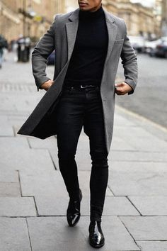 Outfit Hombre Casual, Nice Casual Outfits For Men, Black Outfit Men, Winter Outfits Men, Stylish Mens Outfits, Blazer Outfits Men, Casual Styles, Classy Outfits, Mens Fashion Suits