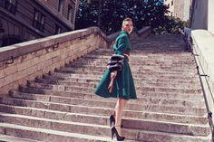 Sarah Emilia   Coat by Prada   Photog: Dennis Bertram   Marie Claire (China) October 2013