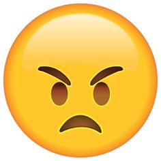 Angry Emoji - Give someone a warning that they're making you mad with the angry face of this emoticon.