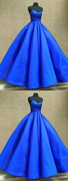 Royal Blue Prom Dress, Sexy Spaghetti Straps Formal Ball Gowns, 2018 Long Evening Dress P1453 #promdress #promdresses #hiprom #prom #GraduationDress #2018 #PartyDress #royalblueprom