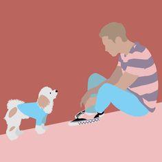 "Ananda Culebras custom illustration on Instagram: "" Inspired by "" @kuro_blackstone "". #drawing #draw #ilustracion #dibujo #procreate #procreateillustration #procreatedrawing #procreateart #boyillustration #ilustración #ilustraciondigital #digitalart #digitaldrawing #digitalillustration #digitalpainting #dog"