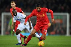 November 29th. 2016: Emre Can in an attack against Leeds United in the EFL Cup