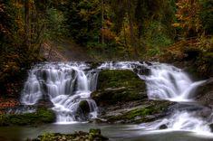 Alpine creek #kleinwalsertal #visitvorarlberg Florian, Mountain Landscape, Lakes, Waterfall, Outdoor, Outdoors, Waterfalls, Outdoor Games, Outdoor Living