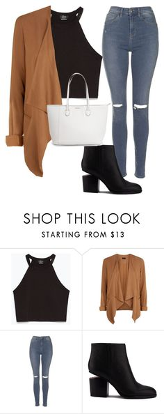 Casually casual by ally1823 on Polyvore featuring Zara, New Look, Topshop and Alexander Wang