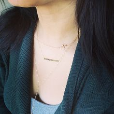Dainty 18K Gold Vermeil Link Cross Necklace  by cocowagner on Etsy