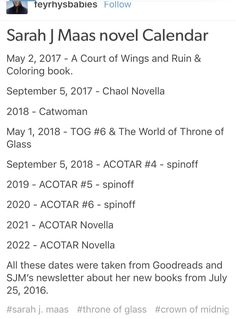 Watch those ACOTAR novellas turn into full novels like Chaol's did haha