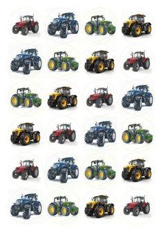 jedlý papír na zákusky muffiny Traktor