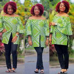 Lovely And Stylish Ankara Top Design - Debonke House Of Fashion African Fashion Ankara, Latest African Fashion Dresses, African Print Dresses, African Dresses For Women, African Print Fashion, Africa Fashion, Ghanaian Fashion, African Attire, African Wear