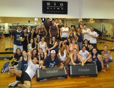 Maratona de Step contou com mais de 45 alunos. Aula muito animada, com muita diversão.