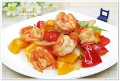 [甜椒奶油蝦仁]快炒家常菜食譜、作法 | 朱麗安廚房手記的多多開伙食譜分享