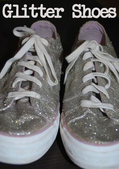 old converse turned glitter shoes