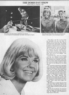 "1971 The Doris Day Show Tv Ad fall preview promo ad 8""x10.75"""