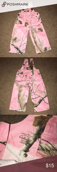 Cabela's Realtree Pink Camo Overalls. Like New! Perfect for Daddy's girls or southern girls who love the great outdoors! These precious pink camo overalls are size 3 Months and in excellent condition! They are sure to have your little angel sporting her country and sassy side at the same time! 💖 Realtree Other
