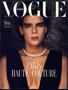 La couverture vintage de la semaine rend hommage à la semaine de la couture qui commence ce dimanche 1er juillet: La Princesse Stéphanie de Monaco photographiée par Helmut Newton pour le numéro de septembre 1986 de Vogue Paris, spécial couture. // This week's cover of the week pays homage to couture week, which starts on Sunday July 1. Princess Stéphanie of Monaco was photgraphed by Helmut Newton for the September 1986 Vogue Paris couture special.