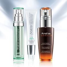 """My beauty routine is all about """"getting even"""" and improving the look of discoloration with ANEW Clinical Absolute Event Multi-Tone Skin Corrector, ANEW Clinical Absolute Even Dark Circle Corrector and ANEW Genics Treatment Concentrate #ANEWyou #AvonRep"""