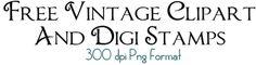 Free vintage clipart & digi stamps (bingo cards, postage stamps, camera)