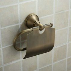 Antique Brass Wall-mounted Toilet Roll Holder TAB1002