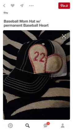 Baseball mom hat w/permanent baseball by zackandjacksboutique all boy софтб Baseball Boys, Baseball Party, Baseball Season, Baseball Shirts, Baseball Clothes, Baseball Boyfriend, Football, Softball Crafts, Girls Softball
