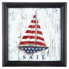 Sailboat MDF Framed Art