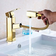 NIENENG bath mixer baralho taps bathroom faucet golden decoration sink tap water pull out faucets washroom gold color taps Bathroom Sink Taps, Brass Bathroom, Brass Faucet, Vanity Sink, Bathroom Fixtures, Basement Bathroom, Washroom, Pull Out Faucet, Bath Mixer